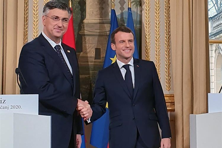 Government Of The Republic Of Croatia Plenkovic Says Talks With Macron Extremely Useful